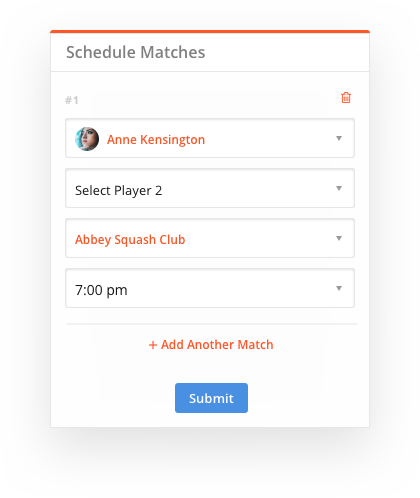 sportyHQ Set venues, times and court assignments